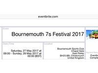 Bournemouth 7's ticket