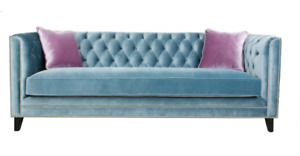 Victoria Chesterfield 3 Seat Sofa NEW / Sofa 3 place Suede Neuf