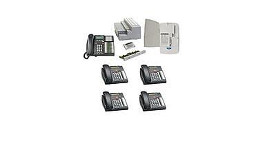 Nortel Business 4x16 Phone System Package With 6 Phones 1 Cordless Phone And Vm