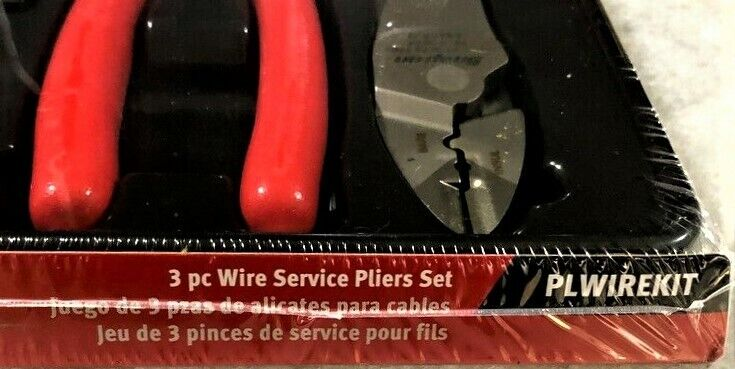 *NEW* Snap-on WIRE SERVICE KIT 3 pcs RED HANDLES PLWIREKIT ~ STRIPPERS, CUTTERS