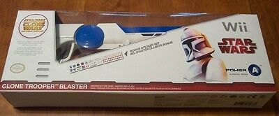 (STAR WARS Clone Wars: Republic Heroes NINTENDO WII Clone Trooper BLASTER GUN NEW)