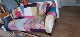 3 seater DFS patchwork sofa