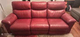 La-Z-Boy leather 3seater recliner sofa