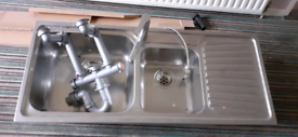 Kitchen Sink Stainless Steel Double Bowl Franke make
