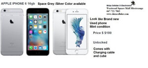 APPLE IPHONE 6 16gb Space grey/Silver look like brand new Unlock