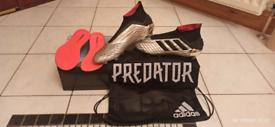 Adidas Predator 19+ FG - Silver Metallic/Core Black/Red - 11