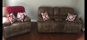 Reclining Chair and  love seat