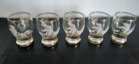 Vintage aperitif glasses