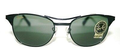 *New* Vintage W0669 Rayban B&L Bausch & Lomb SIGNET BLACK METAL G15 Sunglasses