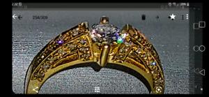 14 k women's multiple diamond ring