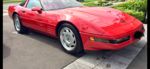 1991 CORVETTE ZR1 RED ON RED MINT!!!