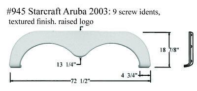 Starcraft Aruba RV  Fender Skirt  FIBERGLASS  #945 White **SEE DESCRIPTION**