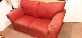 Harrods Deep Red Double Sofa Bed