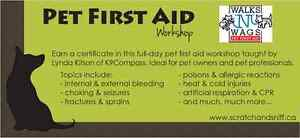 Pet First Aid Course, Oct 2 - Register now!