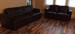Bonded Leather couch set