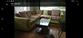 Designers Gulid fabric corner sofa