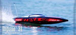RC SPEED BOAT IMPULSE 31 RTR BRUSHLESS 1800KV FAIT DU 80 KMH