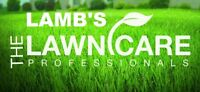 LAMBS Lawn care Fall Cleanup special 20% off October