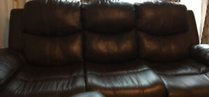 3 seater bonded leather. 2 couches. Pickup only. $199
