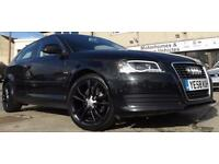 2008 /09 Audi A3 1.9TDI E 3 Door Diesel Hatchback Black with Black Wheels