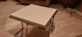 White and silver coffee/side table
