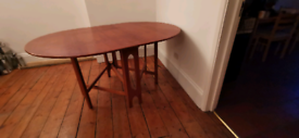 Antique fold table