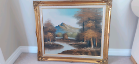 Vintage Oil Painting Wall Art Picture Framed