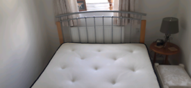 Nearly new 4ft 6in bedframe and mattress