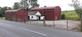 Large storage shed and yard to let in Aughnacloy, Dungannon aera