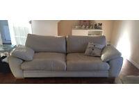 2 set cream leather sofa