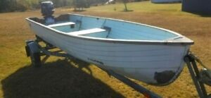 14 foot Crestliner boat with 20 HP Johnson outboard