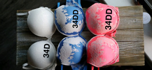 Bras 34D and 34DD