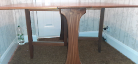 G plan leaf table and 4 chairs