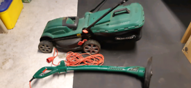 LAWNMOWER ELECTRIC LAWN MOWER AND ELECTRIC TRIMMER/STRIMMER SET