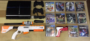 PS3 Non-Slim 150GB with many games and accessories