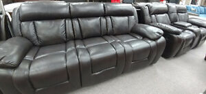 Brand New Dark Brown, Leather Recliner Sofa Set