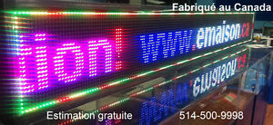LED display sign programmable 3 colors