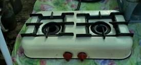 rare 2 burner enamel cooking stove