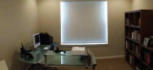 Glass Office Desk and HK Audio/Video Receiver for Sale