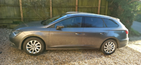 2016 Seat Leon 1.6 Diesel SE Ecomotive (Tech Pack) Estate Car in Grey.