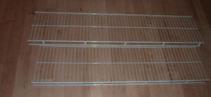 """2 wire shelves for closet (48"""" and 53"""") $ 3 ea or both for $ 5"""