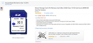 Memory Card / SD Card 32GB - Brand new, never used