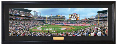 - Atlanta Braves / Opening Day at Turner Field - Framed and Matted Panoramic