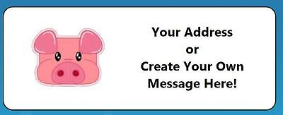 60 Personalized Baby Pig Piggy Return Address (Personalized Pig)