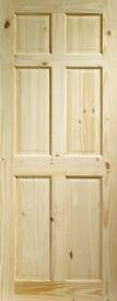 Knotty Pine 6 Panel Door 1981mm x 838mm x 35mm