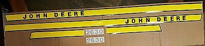 John Deere Tractor 2630 Hood Decal Set