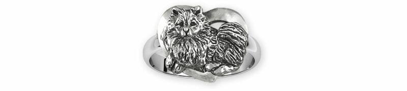 Keeshond Jewelry Sterling Silver Handmade Keeshond Ring  KSH1-R