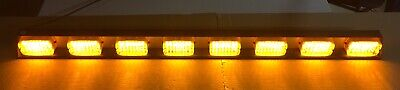 Federal Signal 51 Light Bar 8 Led Amber Lamps Smled8-dot 320792 Tested Works