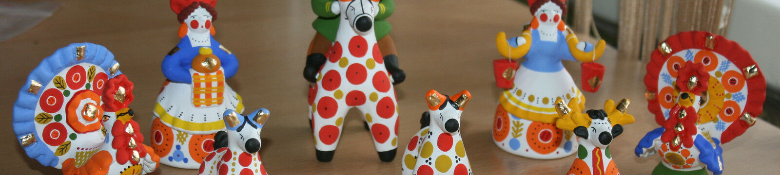 Kamruss Blown Glass & Dymkovo Toy