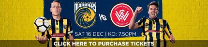 ROUND 11 CENTRAL COAST MARINERS VS WESTERN SYDNEY WANDERERS